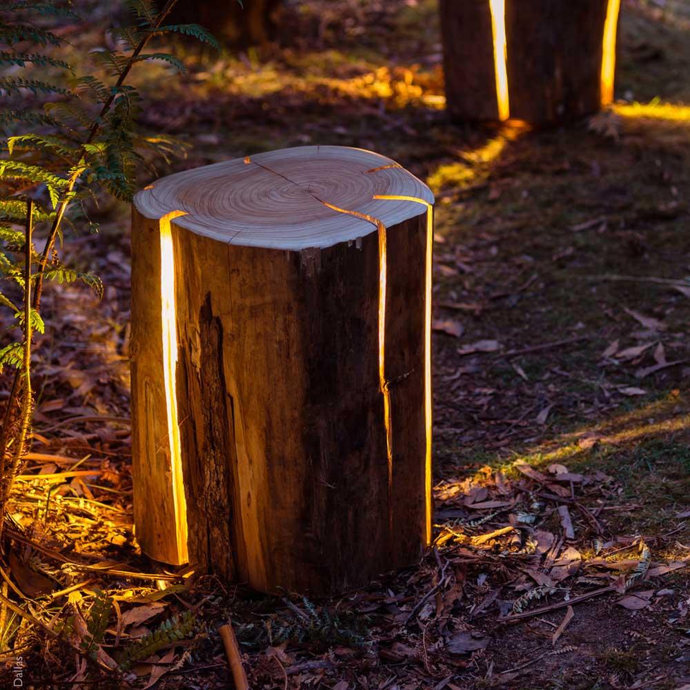 Duncan Meerding's Cracked Log Stool