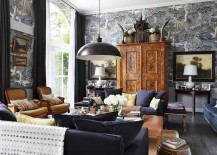 Eccentric living room design with a bold pendant at its heart [Design: VSP Interiors]