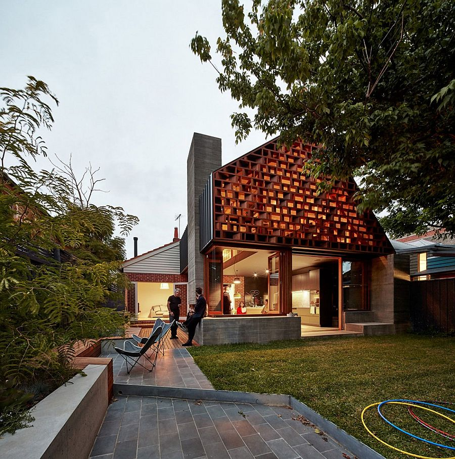 Elegant MAKE House with an exclusive and custom wooden panel How a Custom Timber Screen Transformed This Melbourne Home