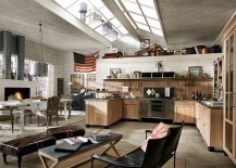 Ergonomic vintage industrial kitchen design for the modern home