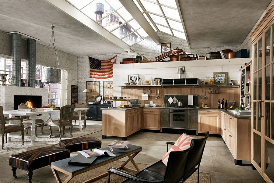 ergonomic vintage industrial kitchen design for the modern
