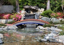 Ever thought about a playful, colorful bridge for the garden? [Design: ARTO Brick]