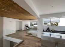 False ceiling creates an interesting visual inside the home