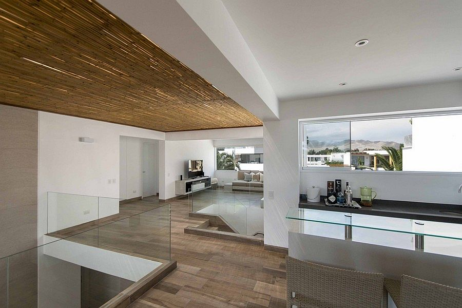 False ceiling creates an interesting visual inside the home