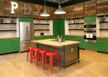 Fun-use-of-color-and-reclaimed-wood-in-the-unique-kitchen-217x155