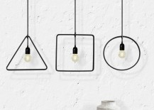 Geometric pendant lights from MICROmacro