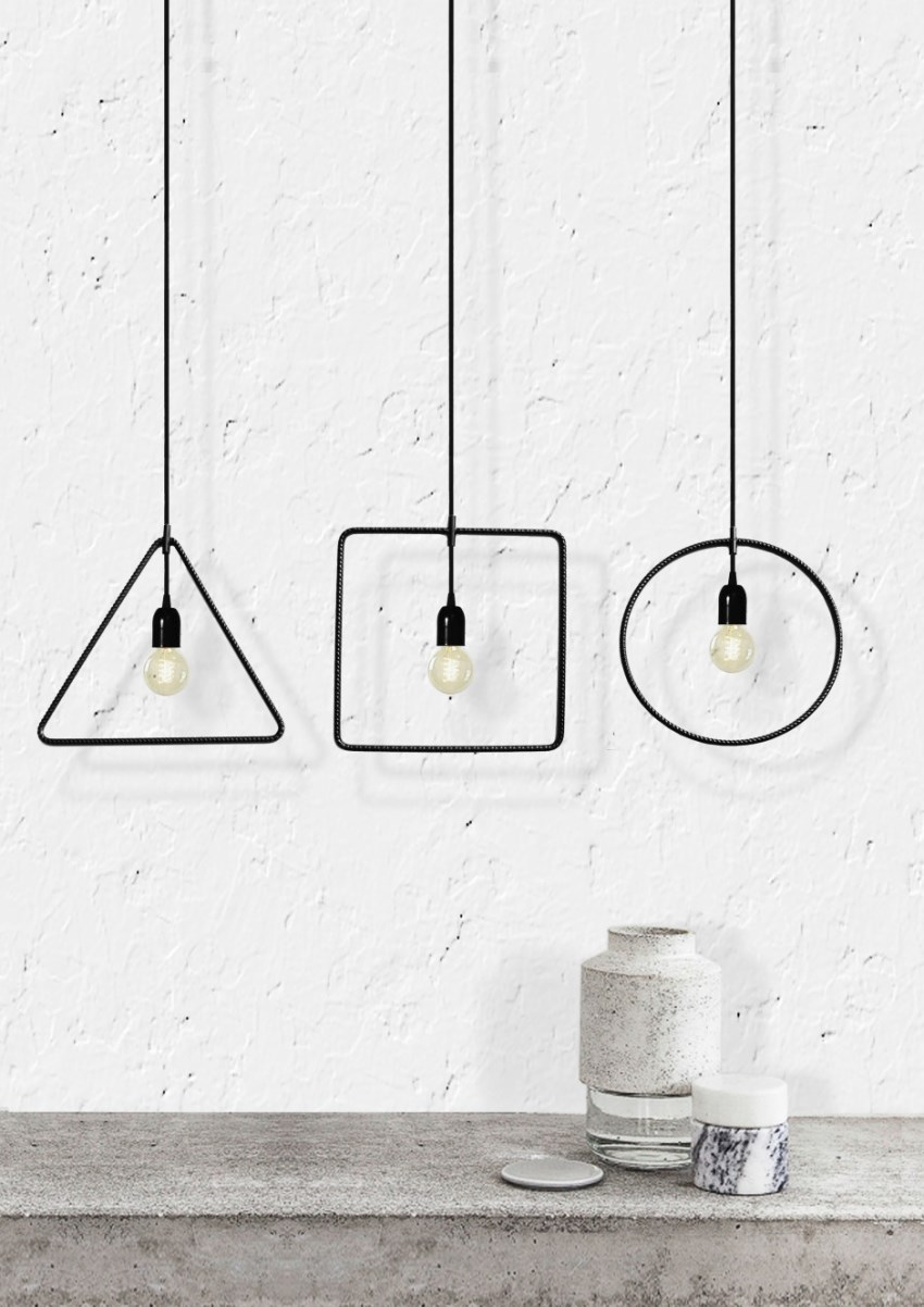 Geometric pendant lights from MICROmacro