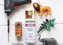 Gilded Toy Animal Drawer Pulls DIY