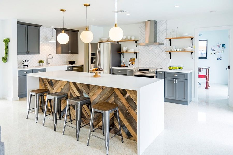 ... Give your industrial kitchen a softer modern appeal [Design: Restore818] & 100 Awesome Industrial Kitchen Ideas