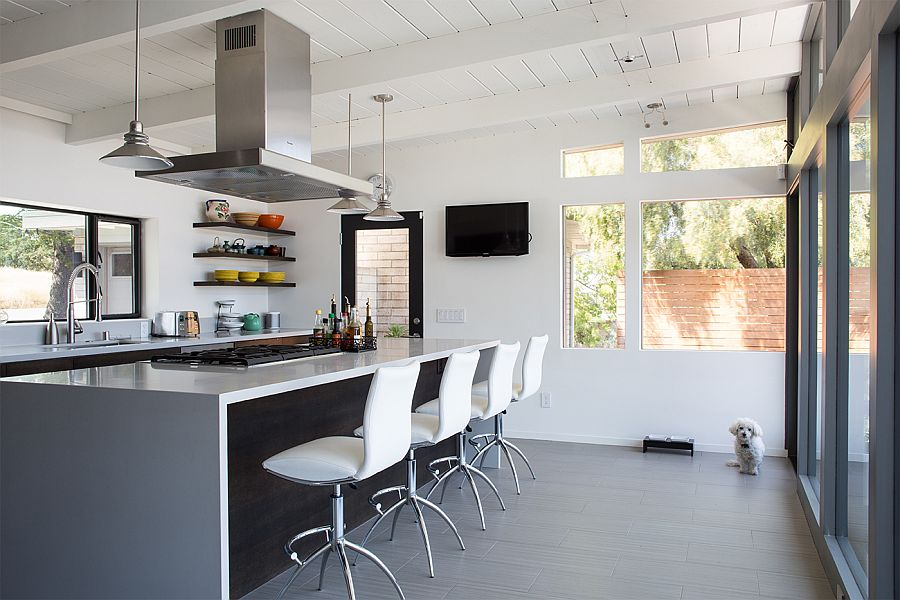 Gorgeous kitchen in white and gray