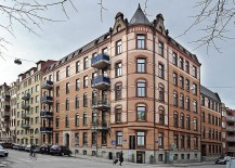 Gothenburg building with cool Scandinavian apartment
