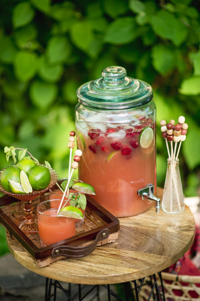 Grapefruit punch for a Bohemian Picnic