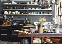 Gray industrial kitchen design idea [Photography: Alec Hemer]