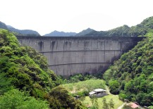 Concrete shaped the imposing Ikehara Dam, Japan