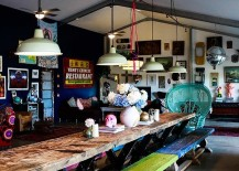 Industrial-lighting-and-Lady-Peacock-chair-steals-the-show-in-this-dining-room-217x155