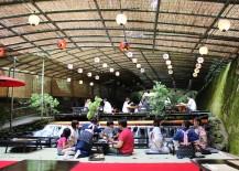 Inside hirobun restaurant