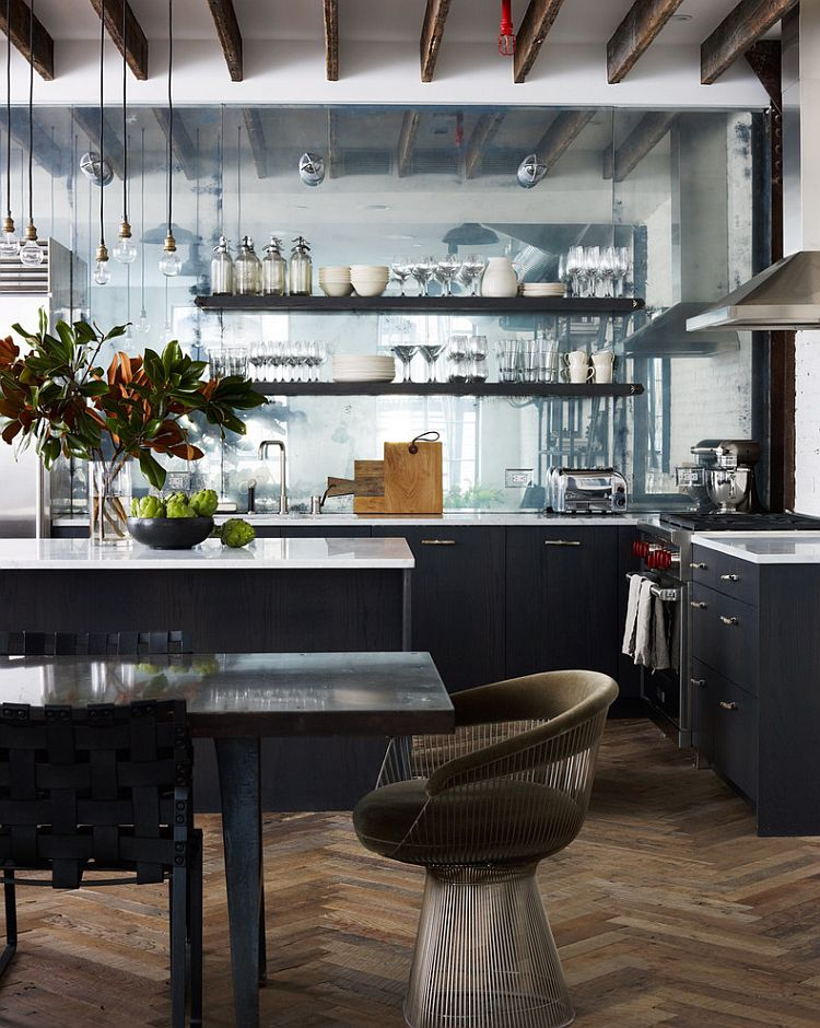 Integrate the dining room and kitchen in an open floor plan [Design: Danconia Interiors]