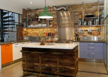 Interesting-use-of-pops-of-color-inside-the-modern-industrial-kitchen-217x155