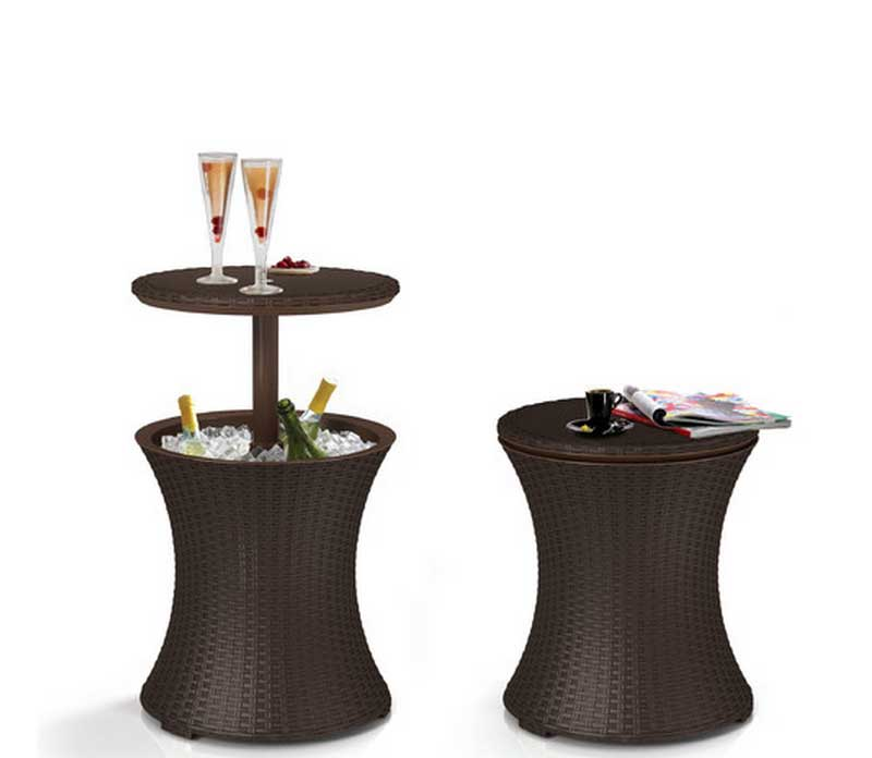 Keter Wicker Pool Table and Bar with Storage