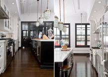 Kitchen redesign with black detailing