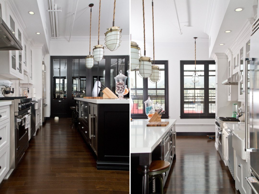 Kitchen redesign with black detailing  10 Unique Painting Ideas Featuring Black Trim Kitchen redesign with black detailing