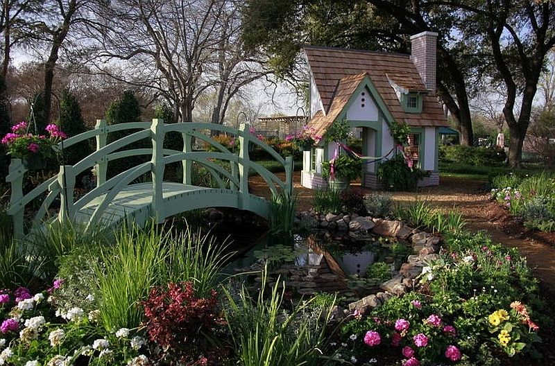 Landscape and playhouse design that seems to have popped out of a fairytale!