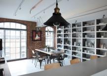 Large open shelves define the kitchen and dining room [Design: Oliver Burns]