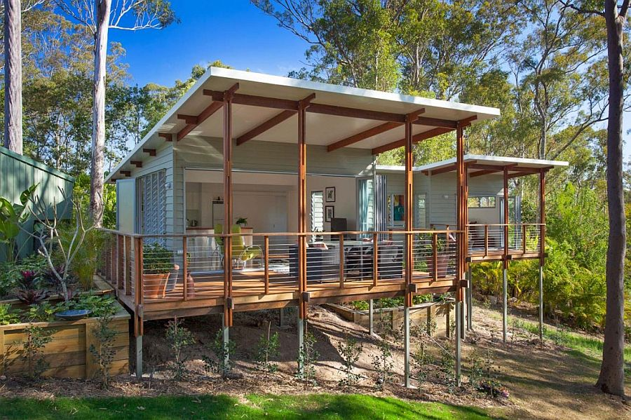 View in gallery Large porch spaces extend the living space outdoors. Affordable and Stylish Second Dwelling  One Bedroom Home in Brisbane