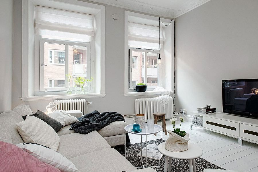 Large windows bring in ample light indoors