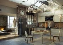 Loft-inspired kitchen with vintage design elements [From: Serafien De Rijckedreef]