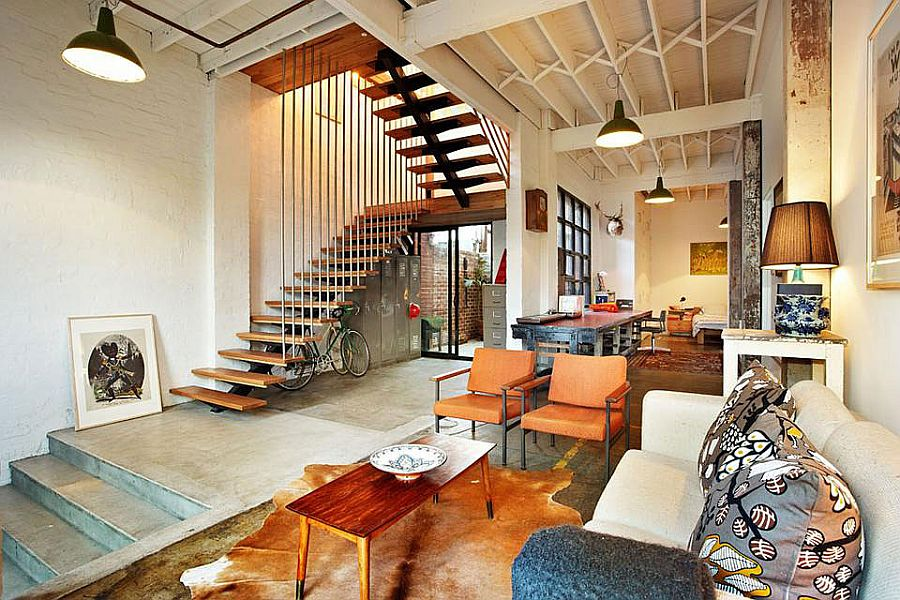 Loft style warehoues conversion in Melbourne brings home a bit of New York Touch of New York: Loft Style Warehouse Conversion in Melbourne