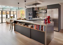 Lovely fusion of contemporary and industrial styles in the kitchen [Design: Jane Powell – Roundhouse]