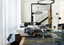 Lovely-use-of-acrylic-coffee-table-in-the-black-and-white-living-room-217x155