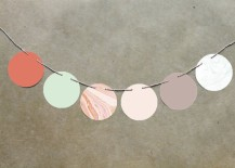 Marble circle garland from Minted
