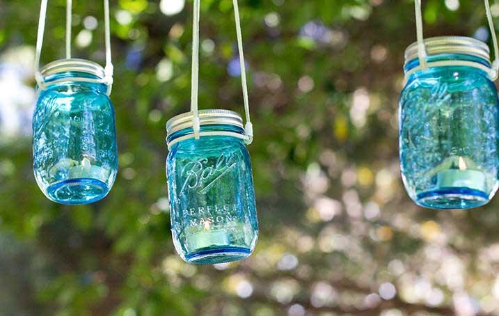 Mason Jar Votive Candle Lamp DIY
