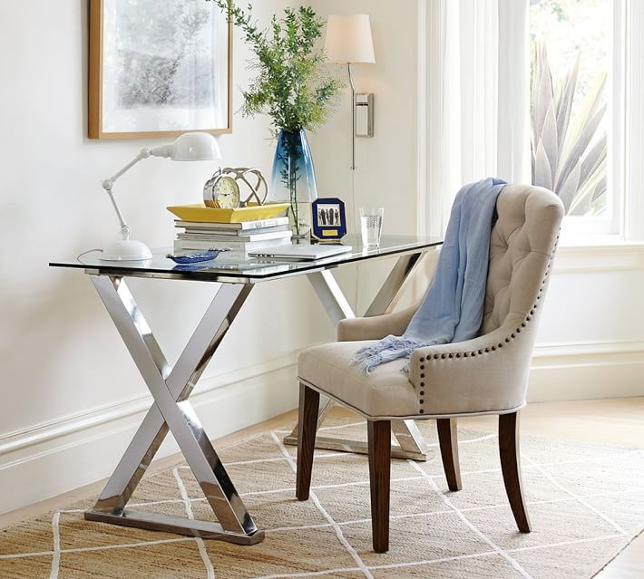 15 home offices featuring trestle tables as desks - Pottery barn office desk ...
