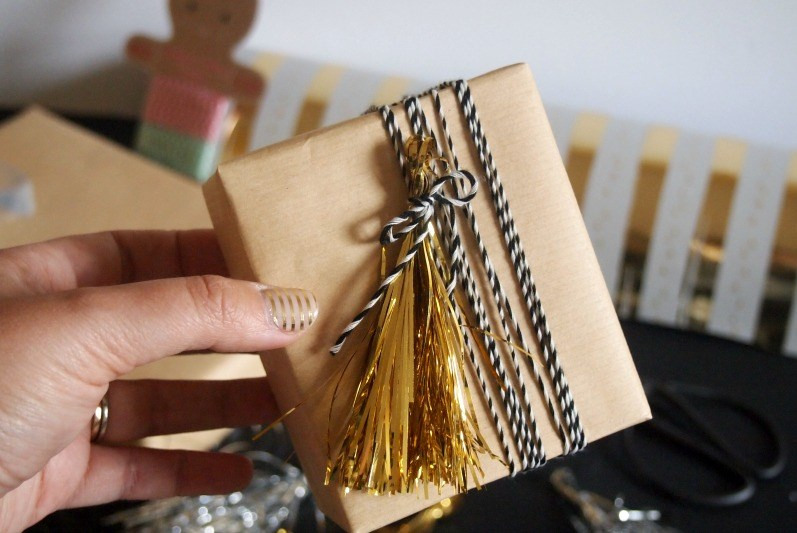 Metallic tinsel tassels from Decoist