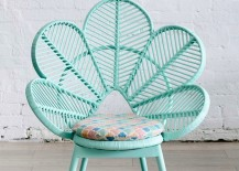 Mint peacock chair from Flodeau 217x155 DIY Peacock Chair Ideas