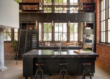 100 awesome industrial kitchen ideas rh decoist com Industrial Pendant Lighting Kitchen Island Industrial Chic Kitchen Islands