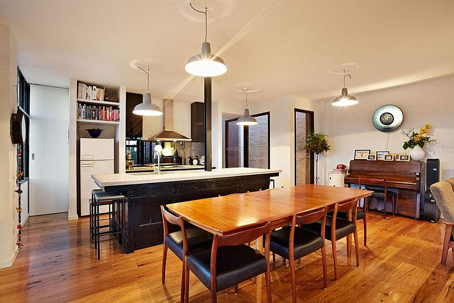 Touch of new york loft style warehouse conversion in for New york style kitchen design