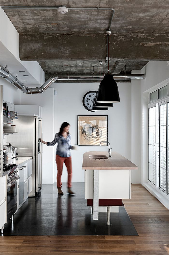 Modern minimalism meets industrial beauty in this kitchen [Photography: Emily Andrews]