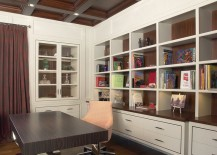 Modern-office-with-a-coffered-ceiling-217x155