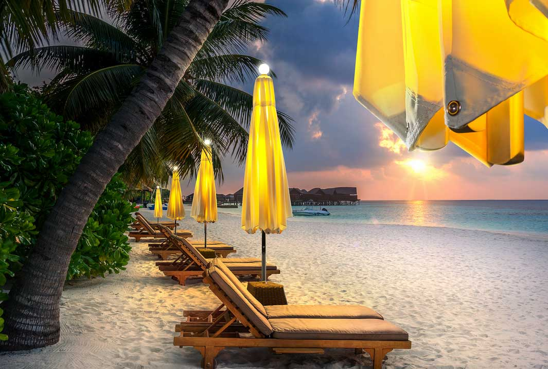 NI Parasol on the Beach