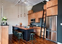 Nifty kitchen that also doubles as an ergonomic home office [Design: J. Schwartz, LLC Remodeling & Fine Homebuilding]