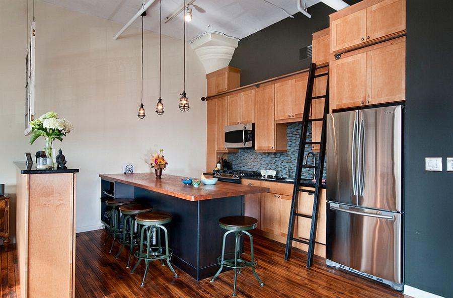 Nifty kitchen that also doubles as an ergonomic home office [Design: J. Schwartz, LLC Remodeling & Fine Homebuilding]