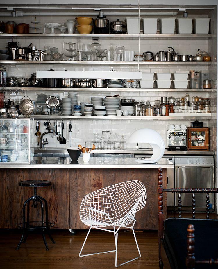 Open shelves that epitomize industrial style [Design: Kit Republic]