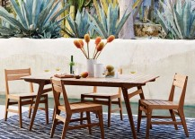 Outdoor dining area from West Elm
