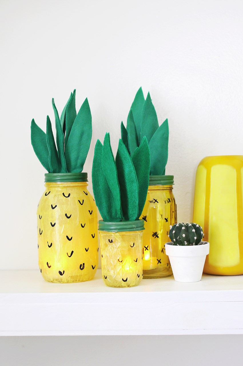 Pineapple lights from A Beautiful Mess  Summer Party Ideas for a Festive Season Pineapple lights from A Beautiful Mess