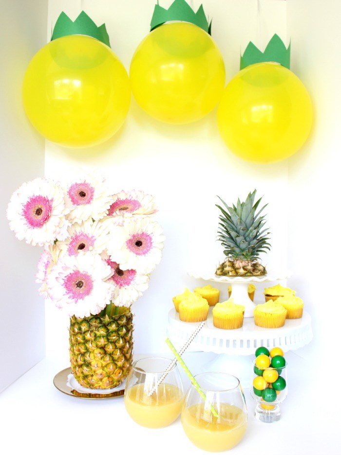Pineapple party idea from Best Friends for Frosting