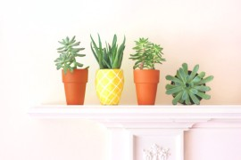 Pineapple planter from Lines Across  Summer Party Ideas for a Festive Season Pineapple planter from Lines Across